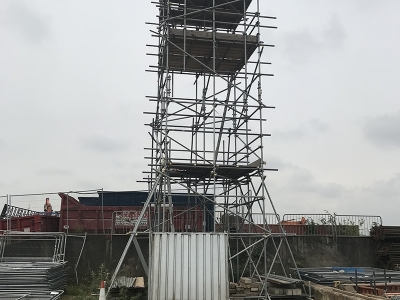 Static free standing tower