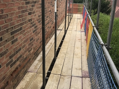 Bricklayers scaffold